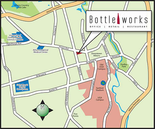Bottleworks Area Map - Athens