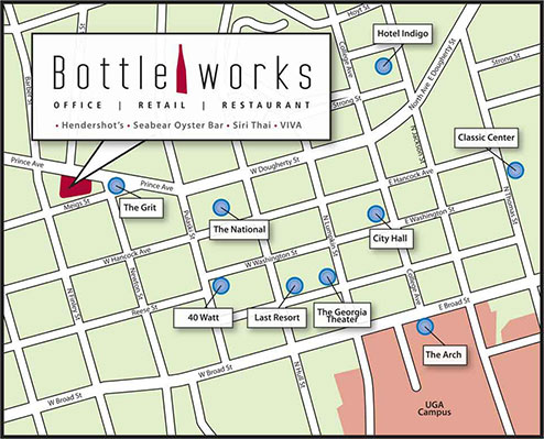 Uga Health Sciences Campus Map.Location Bottleworks